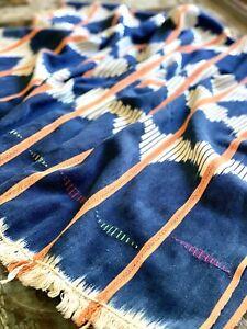 Vintage African Indigo with Orange | Baule Mudcloth No. 01