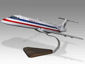 Embraer ERJ-145 American Eagle Solid Mahogany Wood Handcrafted Display Model