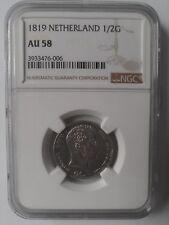Netherlands 50 cent / 0.5 gulden 1819 NGC AU 58