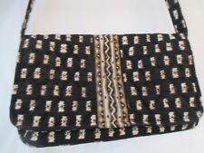 Vera Bradley Black and Tan Small Purse in Retired Zebra Pattern