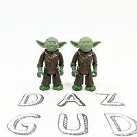 Lot of 2 Vintage Kenner Star Wars LFL 1980 Yoda The Jedi Master Action Figure
