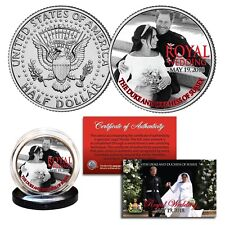 PRINCE HARRY & MEGHAN MARKLE Official Palace Royal Wedding Photo B/W JFK Coin