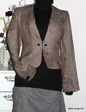 CCDK Coppenhagen Leinen Jacke linen jacket 36 S Kaula Beige braun Jeans Jakke