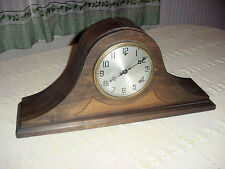 Vintage Blm Bam Gilbert Two Tone Wood Shelf Mantel Clock