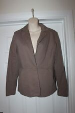 Ladies Wallis Cotton Coat Size 12 Brown Jacket