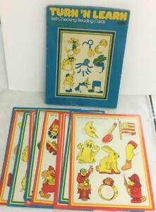 1977 Turn N Learn Reading Cards Ending Constants 10 Different Cards Set 2R