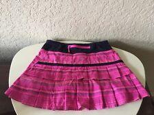 Lululemon Pacesetter Skirt Pow Pink Elevation Stripe Deep Indigo 2