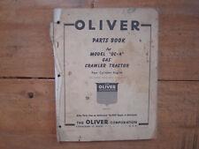 1957 Oliver Model Oc 4 Crawler Tractor Parts Book