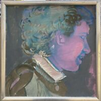 Brigitte Tietze Berlin Expressives Ölgemälde Portrait Frau Kopf 42 x 41 cm