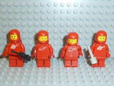 LEGO® Space Classic 4x Figur Astronaut rot mit Airtank 1968 918 6930 6929 F1744