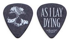As I Lay Dying Nick Hipa Skull Black Guitar Pick - 2010 Tour