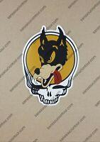 """Brand New, Grateful Dead Stickers, Wolf Stealie 6""""x4.5"""" sticker, JGB, SYF"""