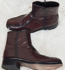 "Florsheim Ankle Boots Leather ""Beatles"" Mod Hip Rocker Dress Men's 9 Oxblood Red"