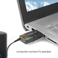 USB 3D audio sound card microphone headset adapter notebook card external T3Q1