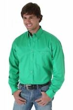 WRANGLER Mens - 20X - Long Sleeve Shirt - M - ISLAND GREEN  - MJ2583M