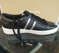 New MICHAEL KORS sneakers with Signature MK LOGO white Silver gold Black shoes