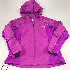 Columbia Womens Omni Shield Purple Full Zip Hooded Rain Jacket Size Small