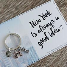 Love New York NYC charm keyring gift