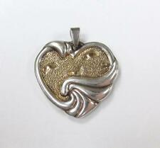 Gorham Sterling Silver Heart Pendant With Inspirational Quote ~ 10.1g ~ 8-F4316