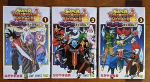 Super Dragon Ball Heroes Ankoku Makai Mission Vol 1 2 3 Manga Set with Cards