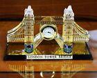 Crystal Cut Gold Plated London Tower Bridge Clock Souvenir & Christmas Gift Box