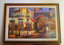 "VIKTOR SHVAIKO EMBELLISHED GICLEE CANVAS ""EVENING IN PROVENCE"" SIGNED~FRAMED~COA"