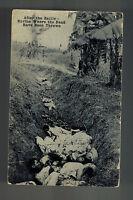1914 Texas Postcard Cover to Auburn Indiana Mexico Revolution Dead Bodies Ravine