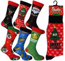 4 X MENS CHRISTMAS MENS NOVELTY SOCKS  GREAT STOCKING FILLERS BNWT