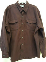 DULUTH TRADING CO.  Mens Long Sleeve Heavy Button Down Flannel Shirt. Size XL