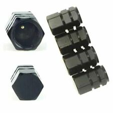 4X Black Aluminum Tire Wheel Rims Stem Air Valve Caps Tyre Cover Car Truck Bike