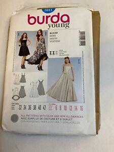 Burda style design 7011 women evening dress sewing pattern US6-16 EU32-42