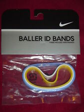 Nike Baller id Bands Bracelets BLUE White YELLOW 3 Pack FREE U.S SHIPPING!