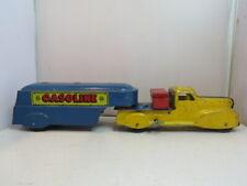 Vintage Marx Tin Wind Up Joy Gasoline Tanker Truck Works