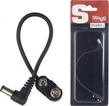 Stagg 15cm batterie câble d'alimentation, PP9 pour pédale d'effets guitare + extérieur