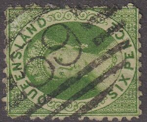 QLD numeral cancellation 59 of TOWNSVILLE [rated RR] Type 2a, 8mm