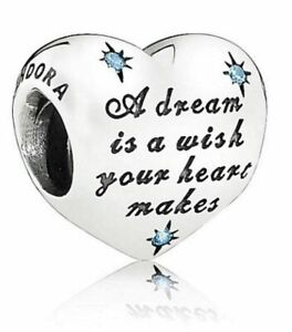New Genuine Pandora Silver Charm Disney Cinderella's Dream Blue Bead -791593CFL