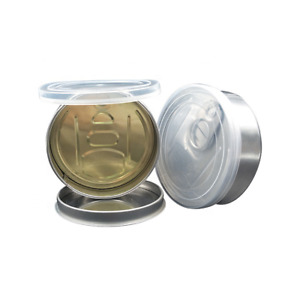 80mL Pop Top Clear Lid Tuna Tin Can Self Seal Easy Open No Tool Needed