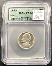 1942 Jefferson Nickel PROOF 5c ICG PR 64 #21006