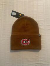 Montreal Canadiens Nhl '47 Carhartt Mens Brown Cuff Knit Beanie Winter Hat