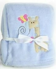 Luxury Soft Fleece Baby Blanket With Giraffe Applique 75 X 100cm for Babies From