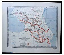 1927 Allen - CAUCASUS - Political Boundaries - WITH COLOR MAP - 5