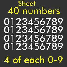 Sheet 0-9 Numbers Vinyl Sticker Decal Window Mailbox Door  Set of 40