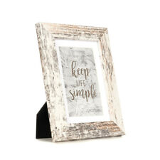 Rustic 5x7 Wood Picture Frames Mat 4x6 Photo Wall/Tabletop Art Decor Set Of 3&6