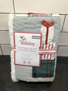 NEW Pottery Barn Kids MERRY SANTA Quilt-ed Standard Sham *Christmas Holiday
