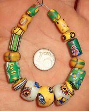 Perles Millefiori Verre Ancien Afrique African Antique Venetian Glass Trade Bead