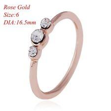 Women Rhinestone Thin Ring Silver Gold Diamond Sz6-9 Jewelry Anniversary Gift