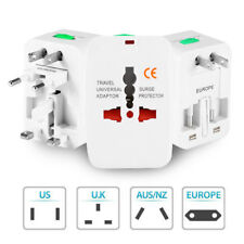10 x Universal All In One International Travel Plug Adapter Charger UK 3 Pin EU