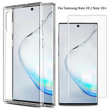 For Samsung Galaxy Note 10 Plus Clear Case &Tempered Glass Full Screen Protector