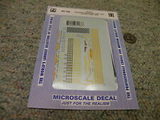 Microscale decals N 60-168 Santa Fe gas-electric doodlebugs ROCs   E36
