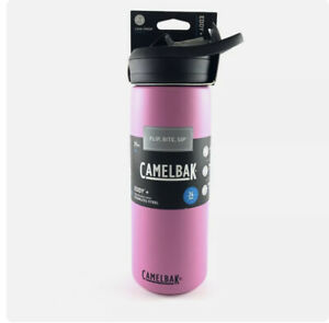 NWT Camelbak Eddy+ 20 Oz PINK Vacuum Insulated Stainless Steel Water Bottle New